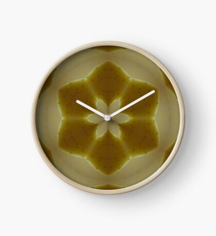 Psychedelic Yellow Mandala Clock