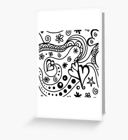 Wallpaper with heart 5 Greeting Card