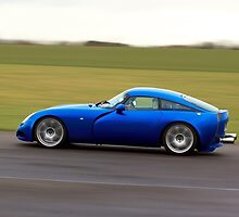 Blue racing car TVR by Martyn Franklin