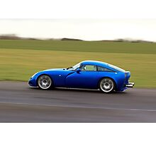 Blue racing car TVR Photographic Print