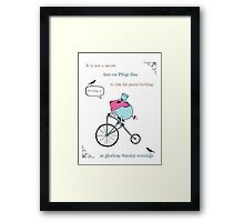PiGgy riding a penny-farthing Framed Print
