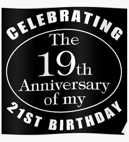 40th Birthday Gag Gift Poster
