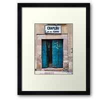 Doors of Bolivia - The Chaplin Cafe Framed Print