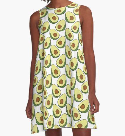 avocado doodle pattern A-Line Dress