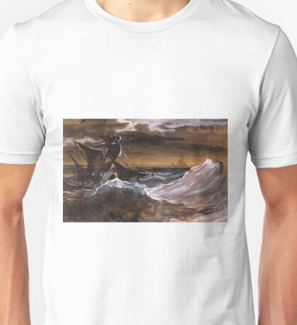 Sailboat on a Raging Sea - Théodore Géricault - ca. 1818 Unisex T-Shirt