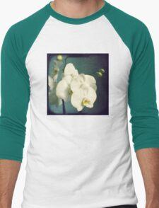 White orchids Men's Baseball ¾ T-Shirt