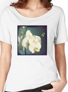 White orchids Women's Relaxed Fit T-Shirt