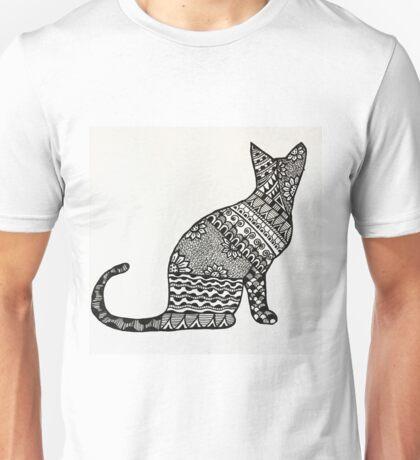 Zentangle Cat Sitting  Unisex T-Shirt