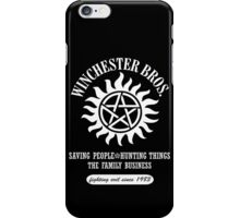 SUPERNATURAL - WINCHESTER BROTHERS SINCE 1983 iPhone Case/Skin