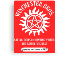 SUPERNATURAL - WINCHESTER BROTHERS SINCE 1983 Canvas Print