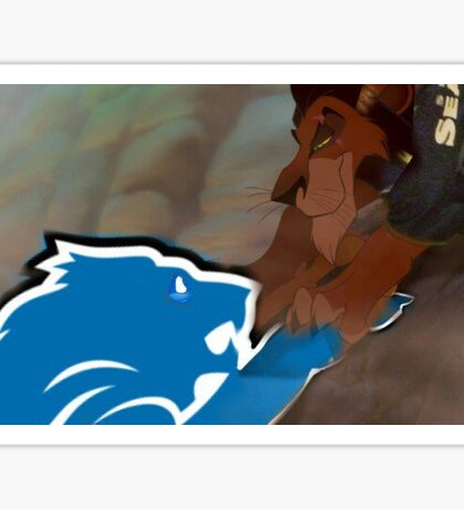 Lions lost to the Seahawks - Lion King Sticker