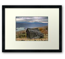 Collapsing on a View Framed Print