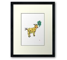 G is for Goat! Framed Print