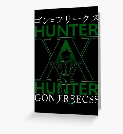 GON FREECSS - Hunter X Hunter Greeting Card