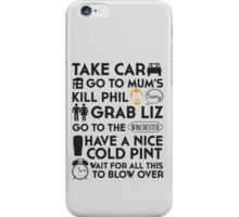 SHAUN OF THE DEAD THE PLAN iPhone Case/Skin