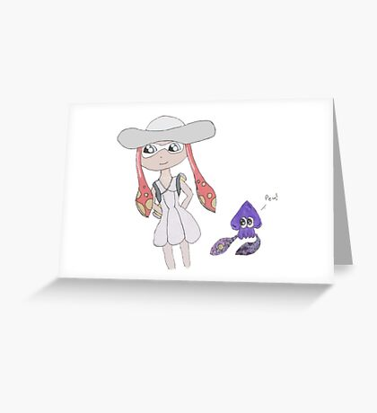 Lillie (Pokemon S&M) and Splatoon Crossover Greeting Card