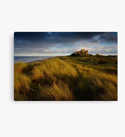 Bamburgh Castle at sunset      Canvas Print