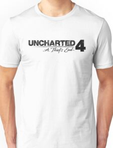 Uncharted 4 (black and white) Unisex T-Shirt