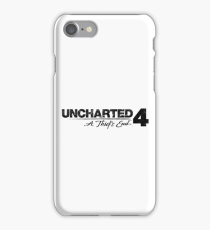Uncharted 4 (black and white) iPhone Case/Skin