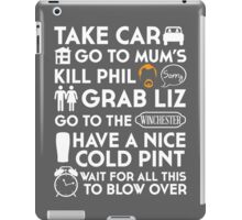 SHAUN OF THE DEAD THE PLAN TO TO LIST iPad Case/Skin