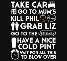 SHAUN OF THE DEAD THE PLAN TO TO LIST T-Shirt