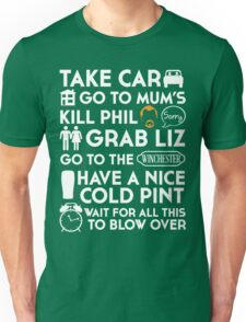 SHAUN OF THE DEAD THE PLAN TO TO LIST Unisex T-Shirt