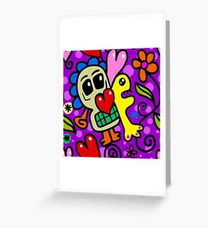 Wallpaper with heart 10 Greeting Card
