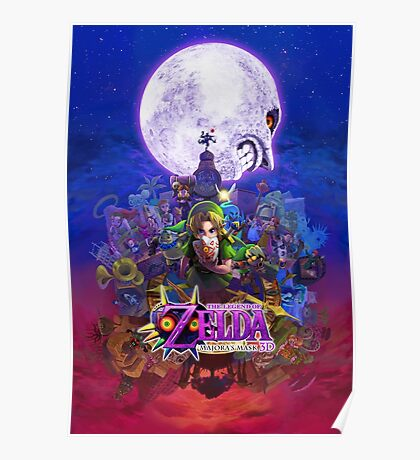 The Legend of Zelda - Majora's Mask 3D Artwork Poster