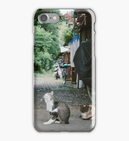Japanese Alley Cats iPhone Case/Skin