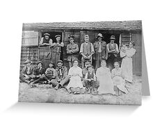 Days gone by a family portrait Greeting Card