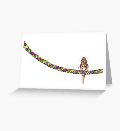 Rat on a Rope Greeting Card