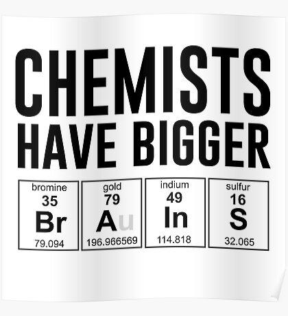 Chemists have bigger brains Poster