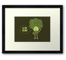 Disgusting Broccoli  Framed Print