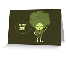 Disgusting Broccoli  Greeting Card