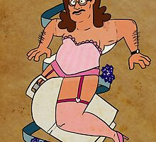 Hank Hill Pin-Up by rubynrags