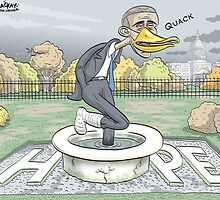 Lame Duck President by MacKaycartoons