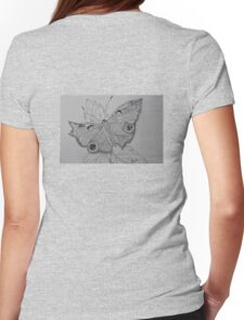 Love is like butterfly, beautiful and delicate. Womens Fitted T-Shirt