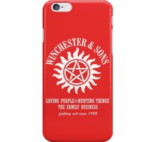 SUPERNATURAL WINCHESTER & SONS t-sHIRT iPhone Case/Skin