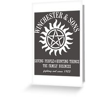 SUPERNATURAL WINCHESTER & SONS t-sHIRT Greeting Card