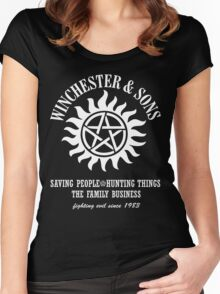 SUPERNATURAL WINCHESTER & SONS t-sHIRT Women's Fitted Scoop T-Shirt