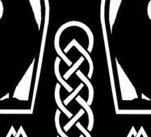 Pagan Thor's Hammer with Celtic Knots Sticker