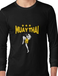 MMA Muay Thai - Kickboxing - Mixed Martial Arts - Star - Fighter Gift - Fighting Long Sleeve T-Shirt