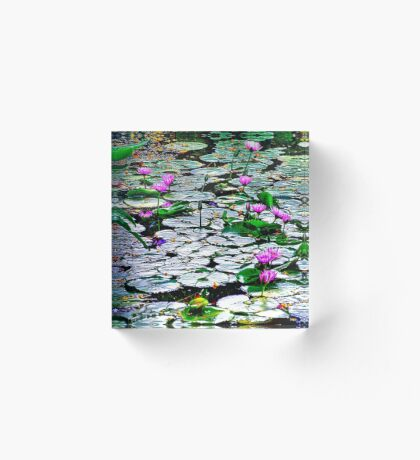Pond of  Water Lilies Acrylic Block