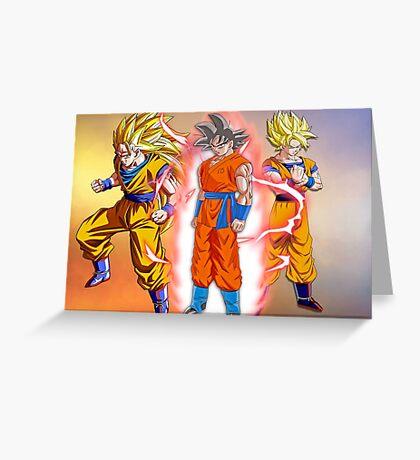 Goku DB Greeting Card