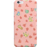Chibi Pokemon Patterns! Kanto/Generation 1 iPhone Case/Skin