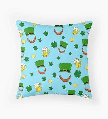 St. Patrick day decorative pattern Throw Pillow