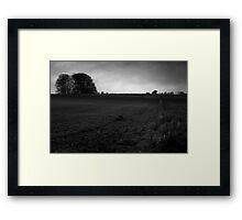 Moonlight farming landscape Framed Print
