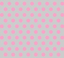 Polkadots Beige and Pink by Medusa81