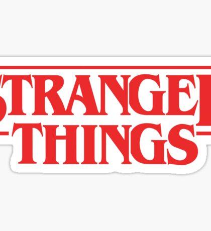 Stranger Things logo Sticker