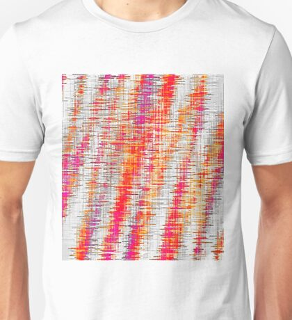 orange red and pink painting texture abstract with white background Unisex T-Shirt